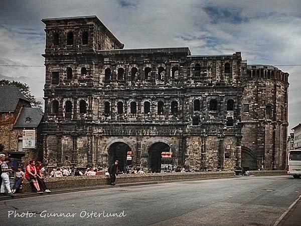 En del av den forna stadsmuren som omgav Trier.
