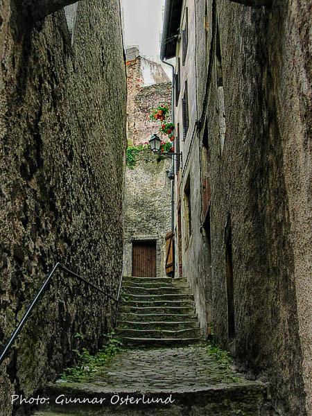 En smal trappgränd i Thionville.