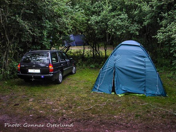 En av de campingplatser som nyttjades under resan.