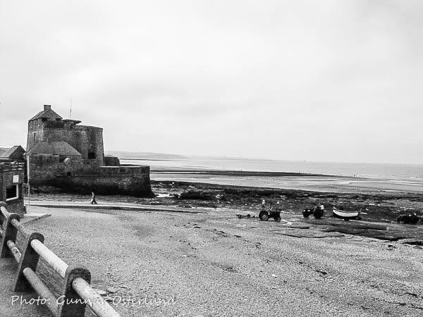 En del av kusten vid Wimereaux