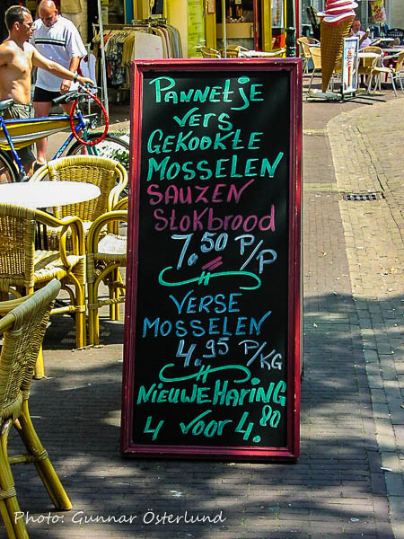Vid en restaurang i Burgh-Haamstede
