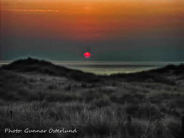 Solnedgång över Nordsjön.