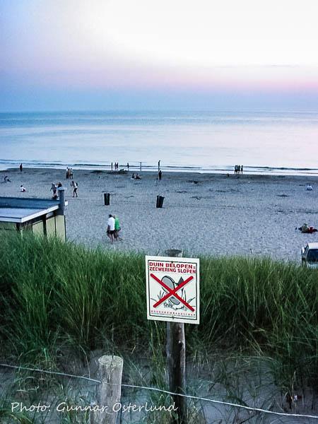 Stranden på kvällen