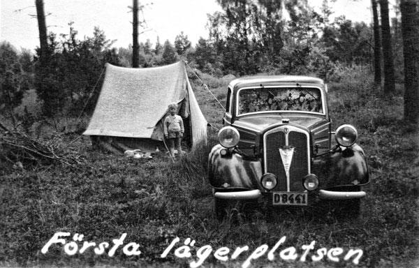 Första övernattningen mellan Falköping och Borås.
