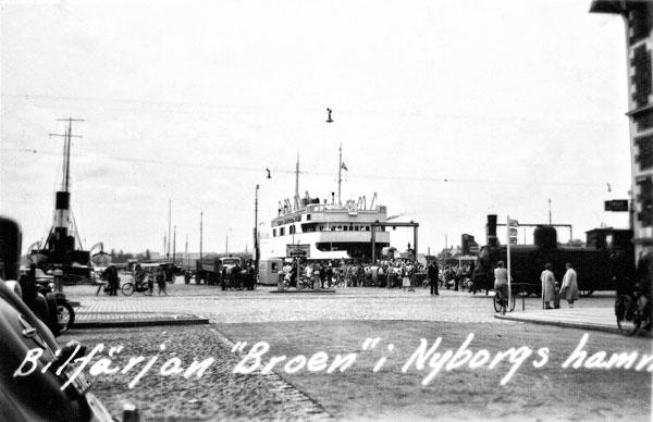 Färjan Broen i Nyborgs hamn