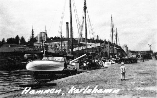 Hamnen i Karlshamn