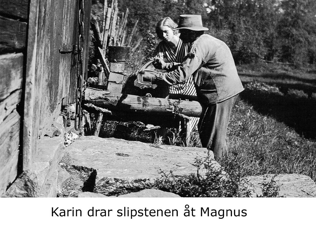 Karin drar slipstenen åt Magnus