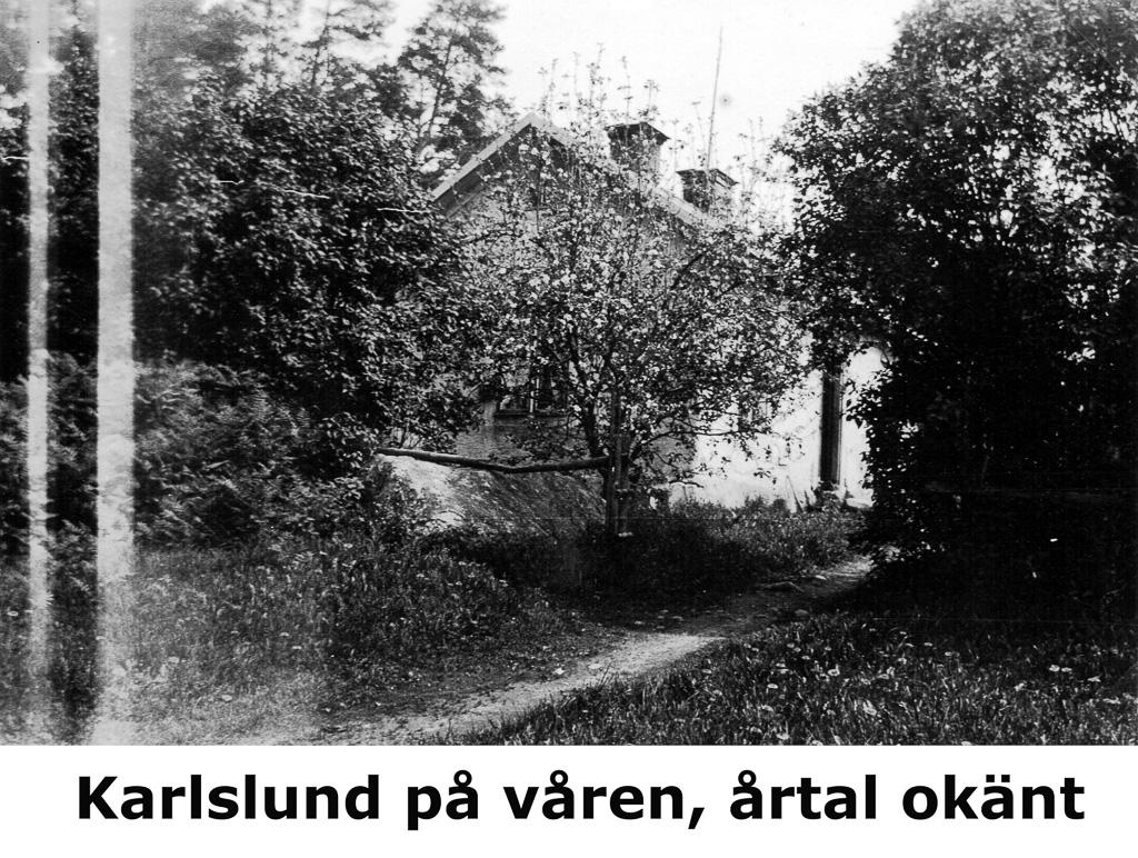 Karlslund på våren. Okänt årtal.