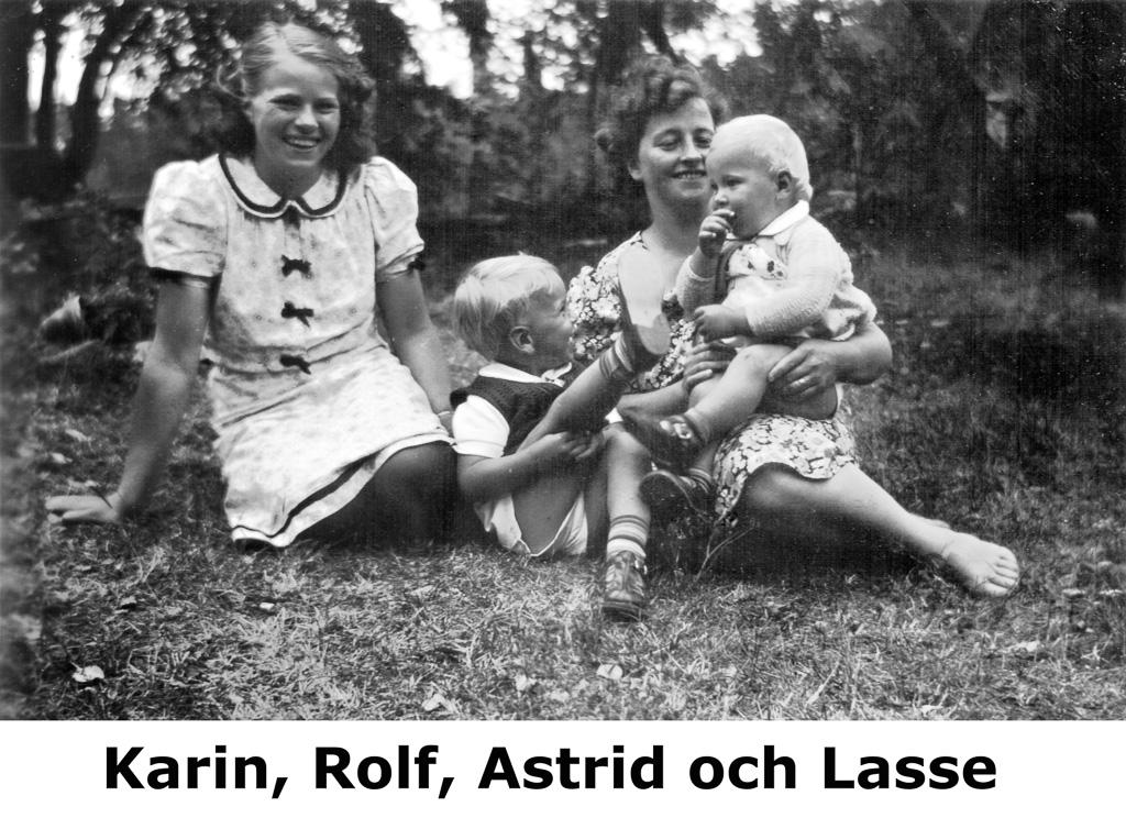 Karin, Rolf, Astrid och Lasse