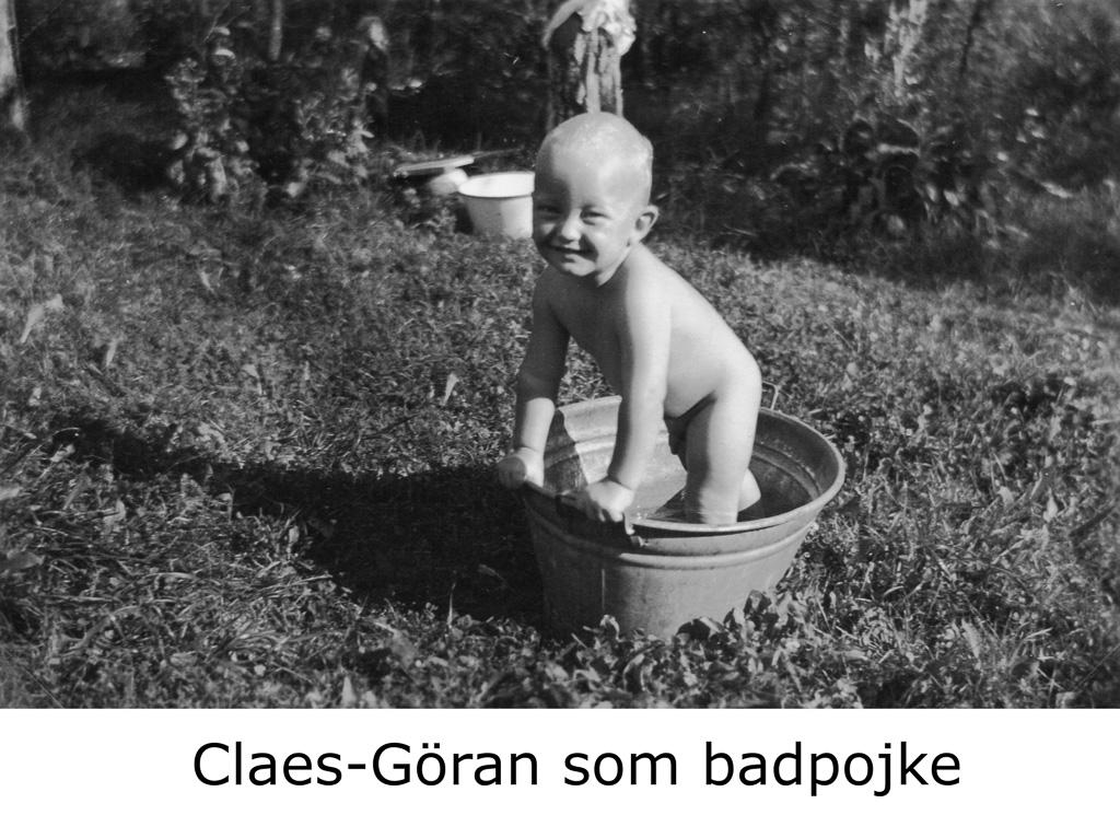 Claes- Göran som badpojke vid Karlslund