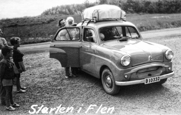 Starten i Flen. 24/7 1954