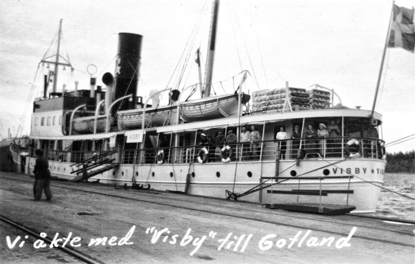 Vi åkte med gotlandsbåten Visby
