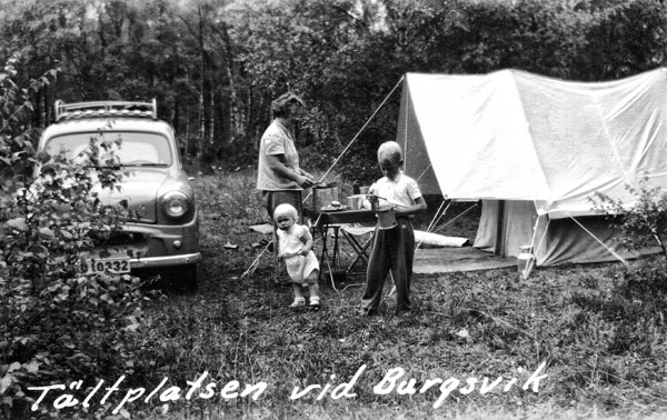 Campingplatsen i Burgsvik
