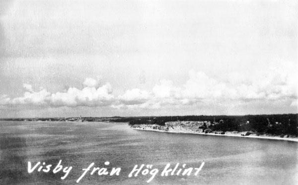 Visby från Högklint