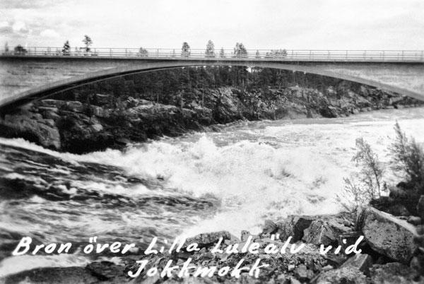 Bron över Lule älv i Jokkmokk