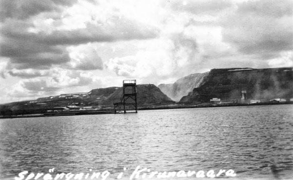 Språngning i Kirunavaaras dagbrott