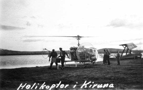 Helikopter i Kiruna