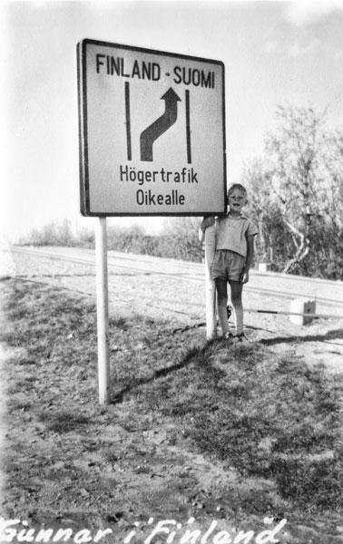 Jag vid svensk-finska gränsen.