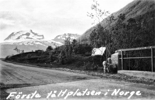 Första tältplatsen i Norge