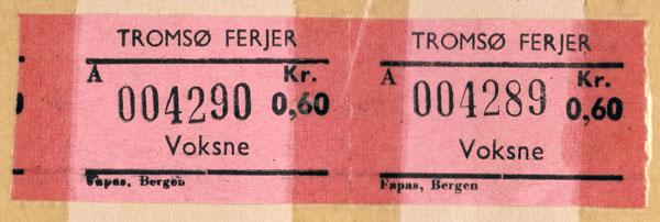 Färjebiljetter