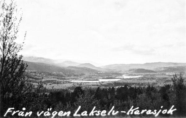 Utsikt från vägen mellan Lakselv och Karasjokk