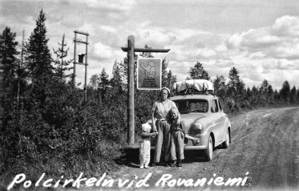 Vid polcirkel nära Rovaniemi