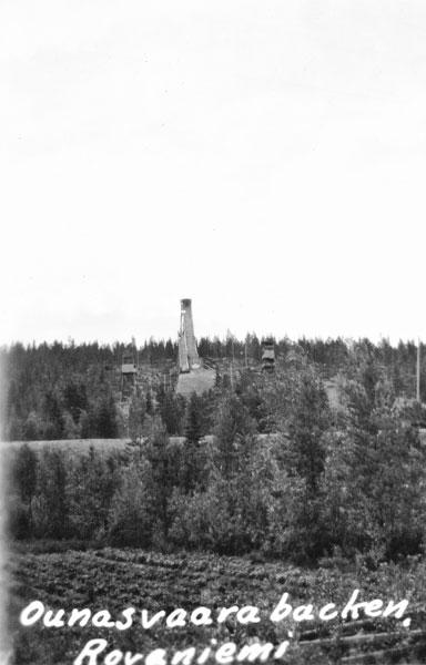 Ounasvaar hoppbacke nära Rovaniemi