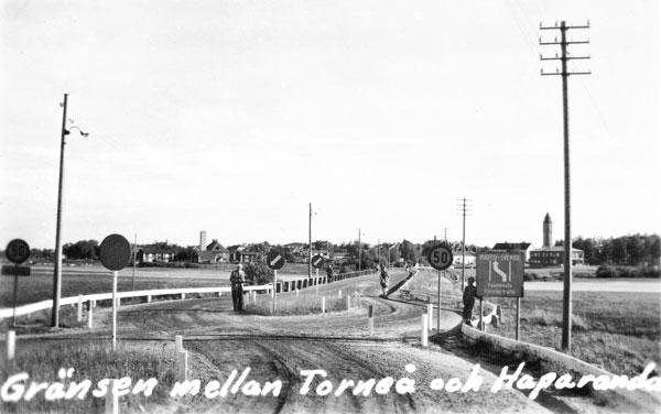 Svensk-finska gränsen vid Torneå