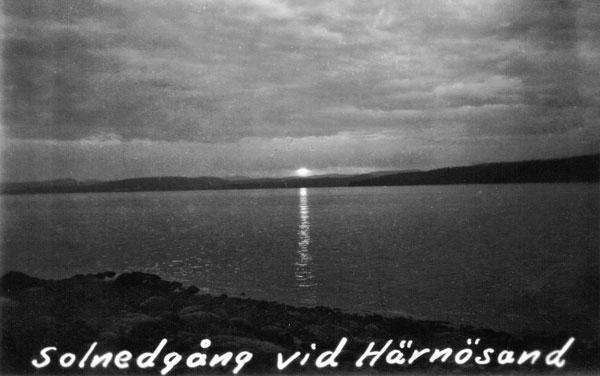 Solnedgång vid Härnösand
