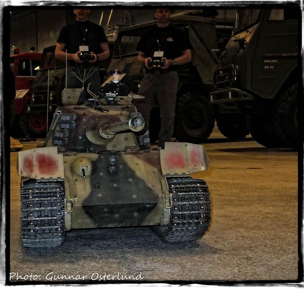 Tiger II i modell.