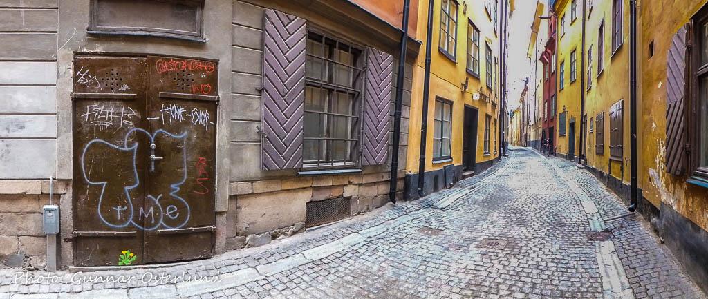 Gränd i Gamla stan i Stockholm