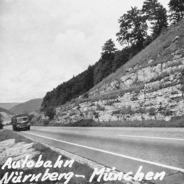 Motorvägen mellan Nürnberg och München.