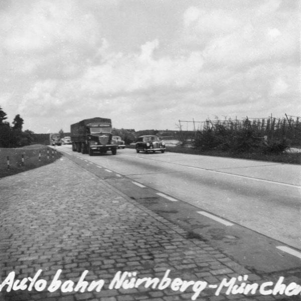 Autobahn mellan Nürnberg och München.
