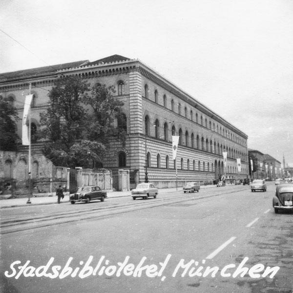Stadsbiblioteket i Mûnchen.