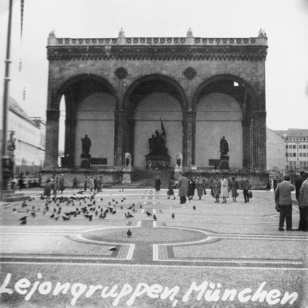 Lejongruppen i München. Känt från Hitlers kuppförsök.