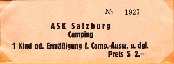 Campingbiljett från Salzburg.