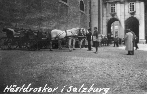 Hästdroskor i Salzburg.