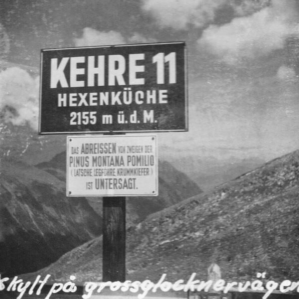 Skylt på Grossglocknervägen.