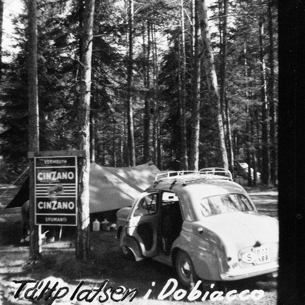 Första campingen i Italien.