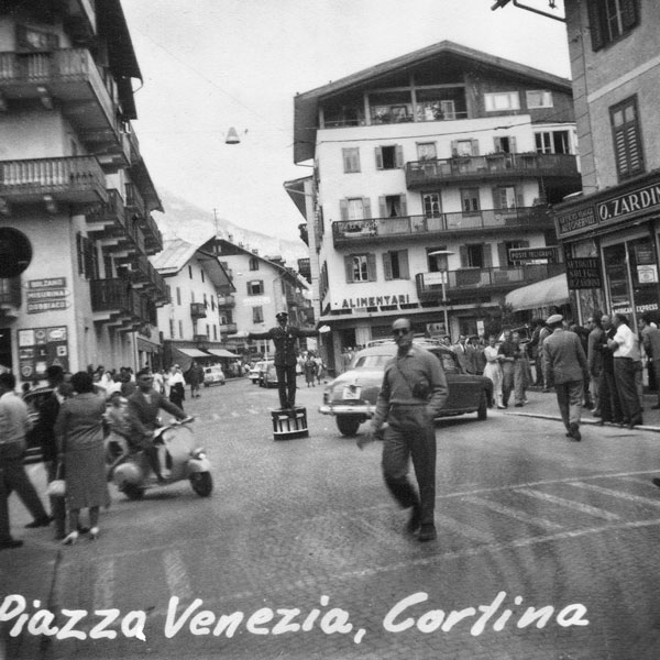 Piazza Venezia i Cortina i Italien.