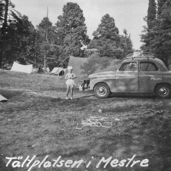 Campingplatsen i Mestre, Italien.