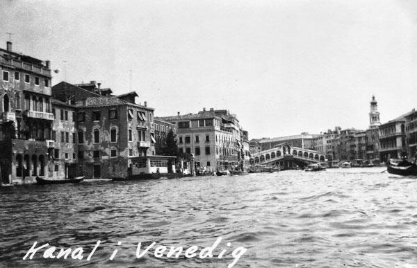 Canal Grande med Rialtobron i Venedig.