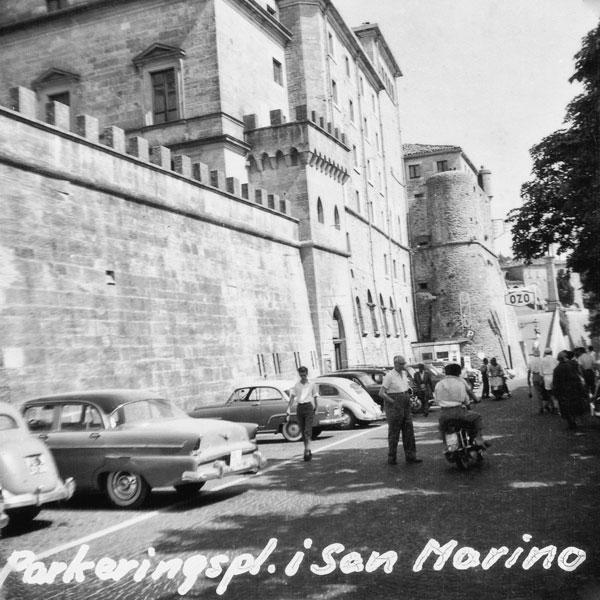 Parkering i San Marino.
