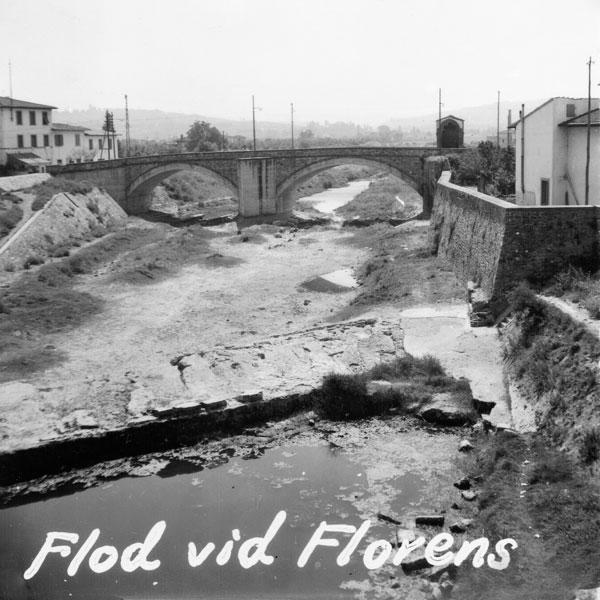 Uttorkad flod vid Florens.