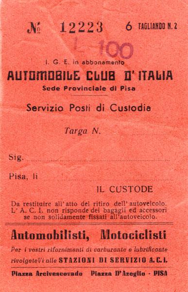 Motorvägsbiljett.