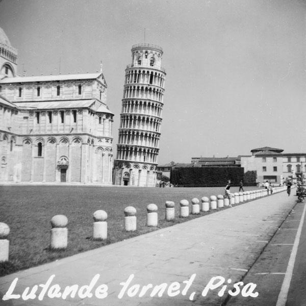 Det lutande klocktornet i Pisa.