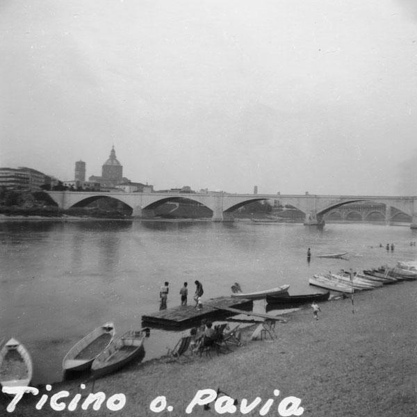 Pavia och floden Ticino.
