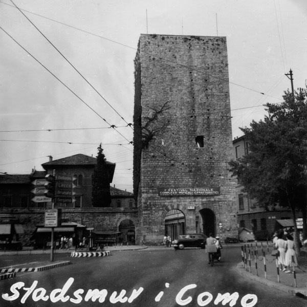 Del av stadsmuren i Como.