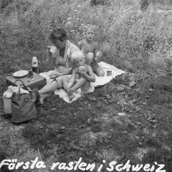 Första rasten i Schweiz.