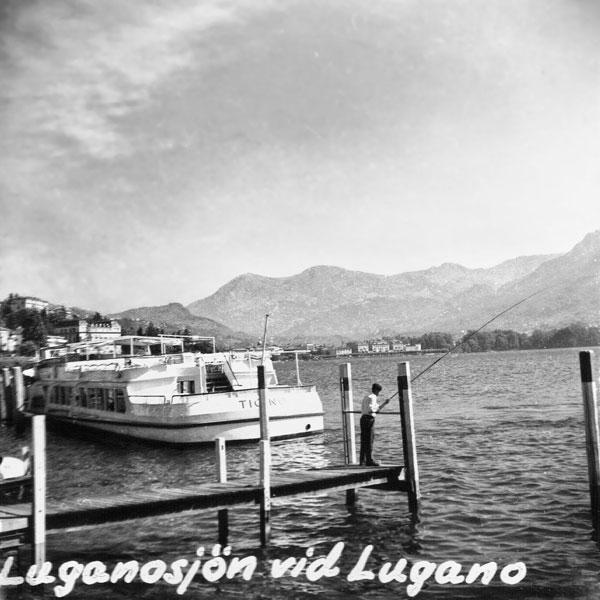 Luganosjön vid Lugano.